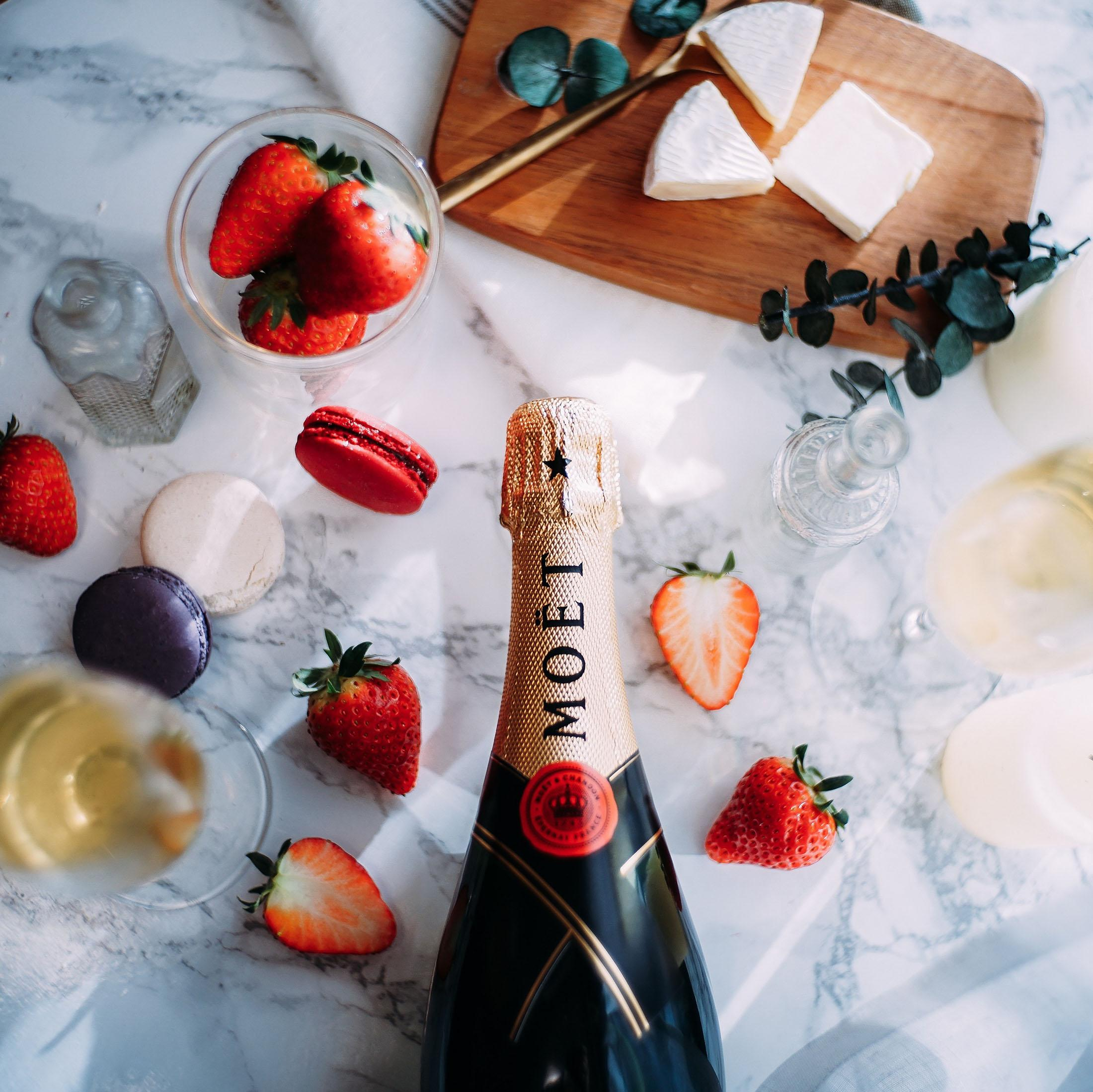 Moet and strawberries