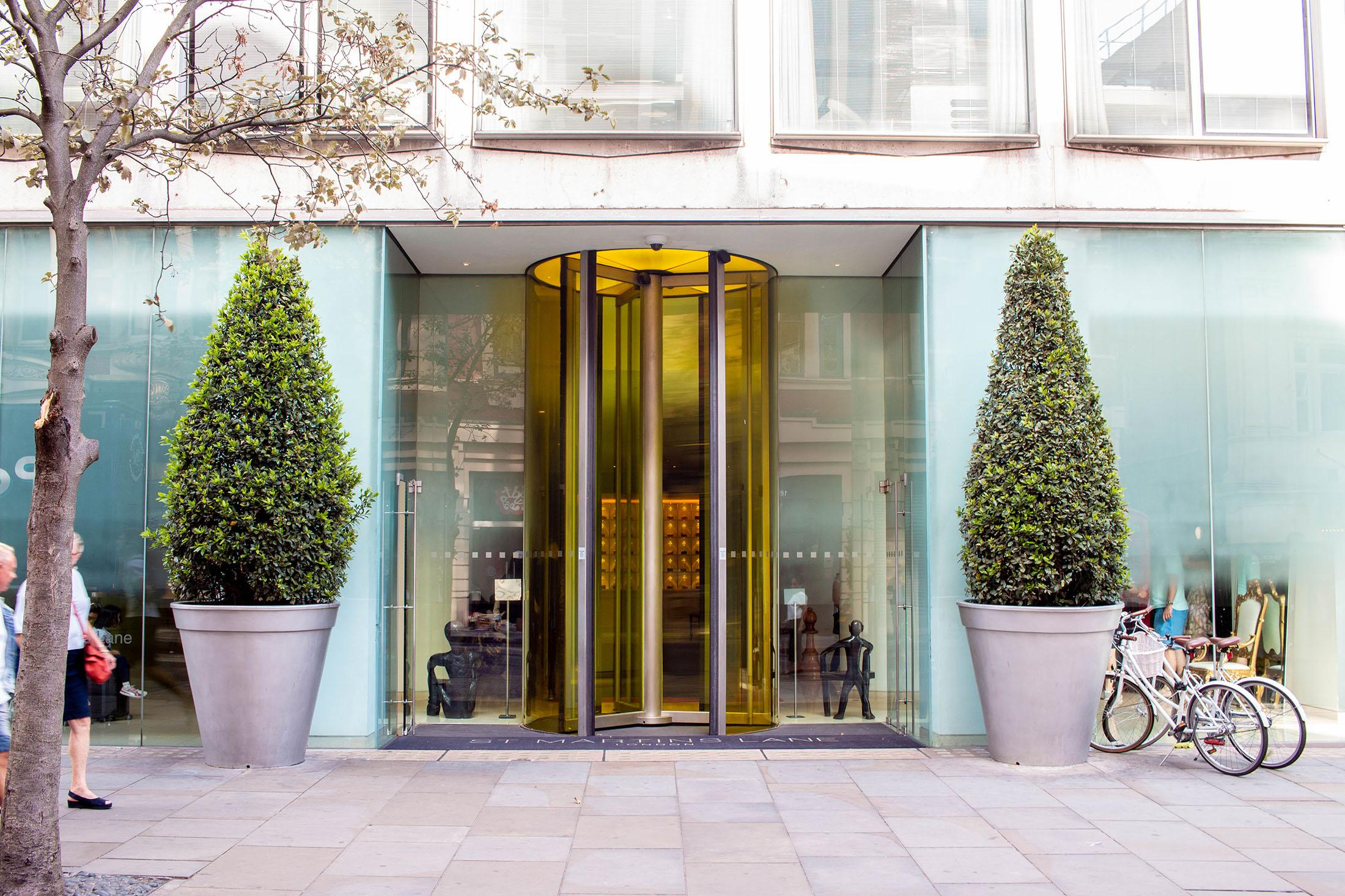 revolving door entrance to St Martins Lane hotel