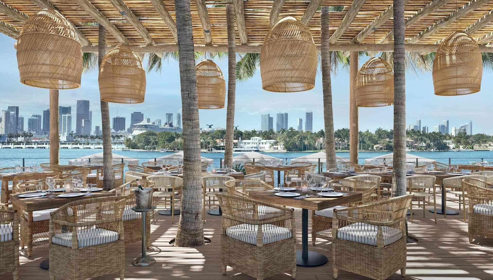 Mondrian South Beach Outdoor Dining