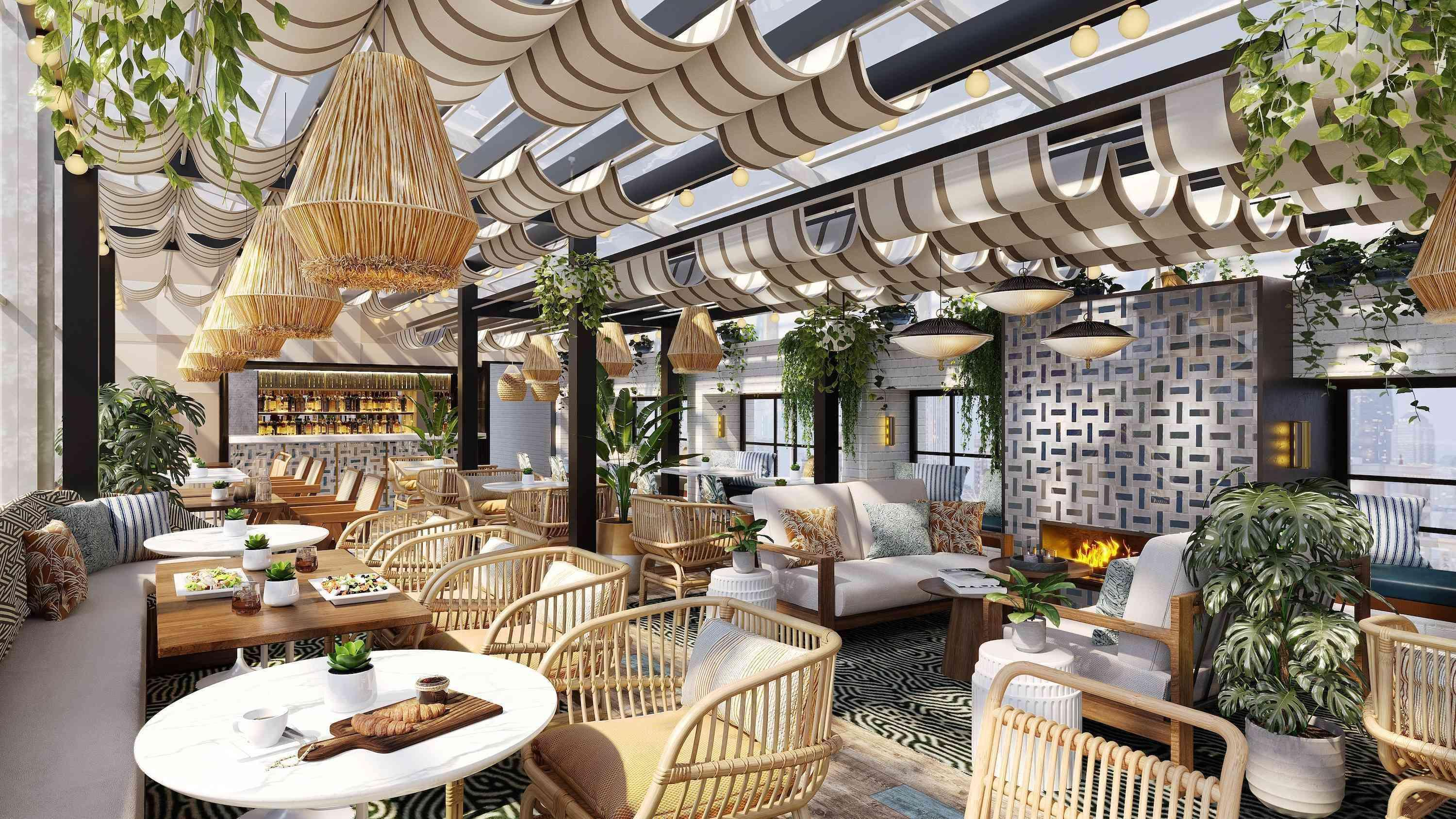 Rooftop Dining Area