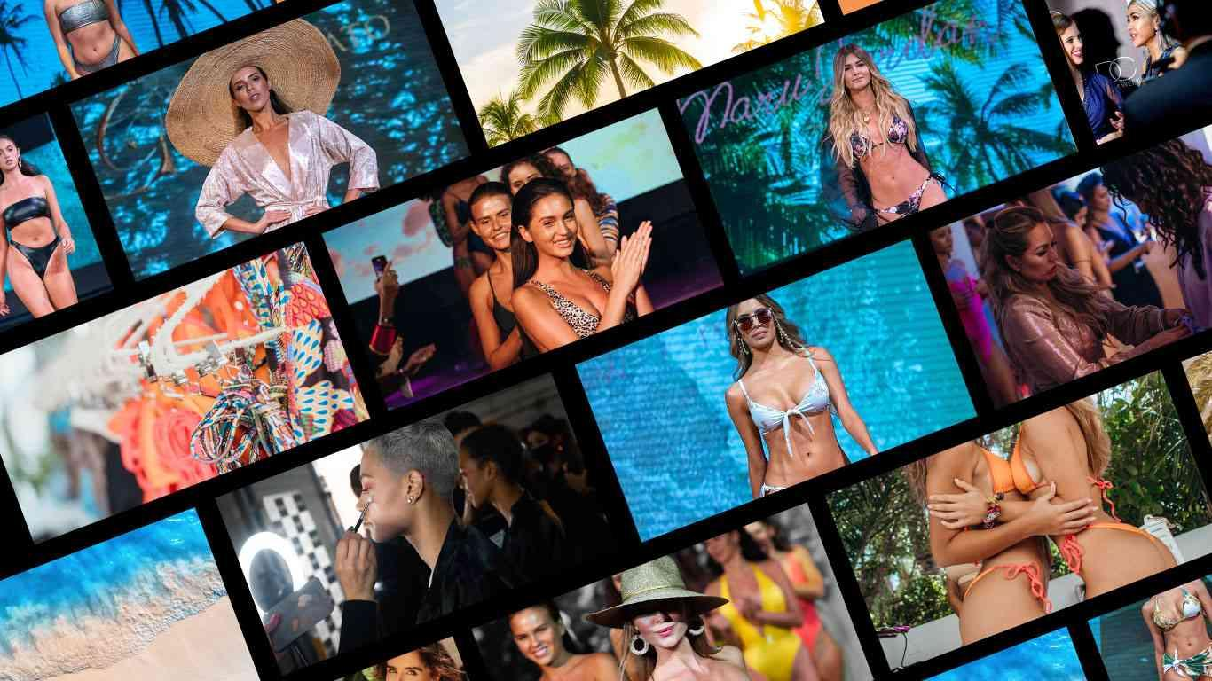 a collage of swim week images