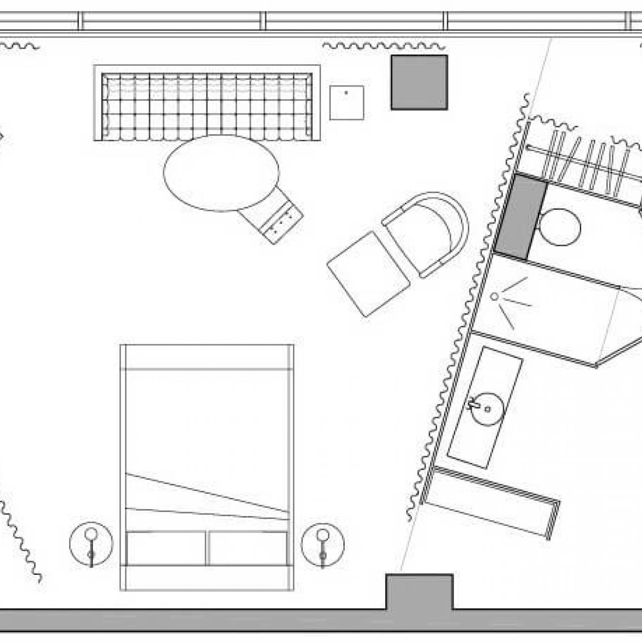 Sanderson loft suite floor plan