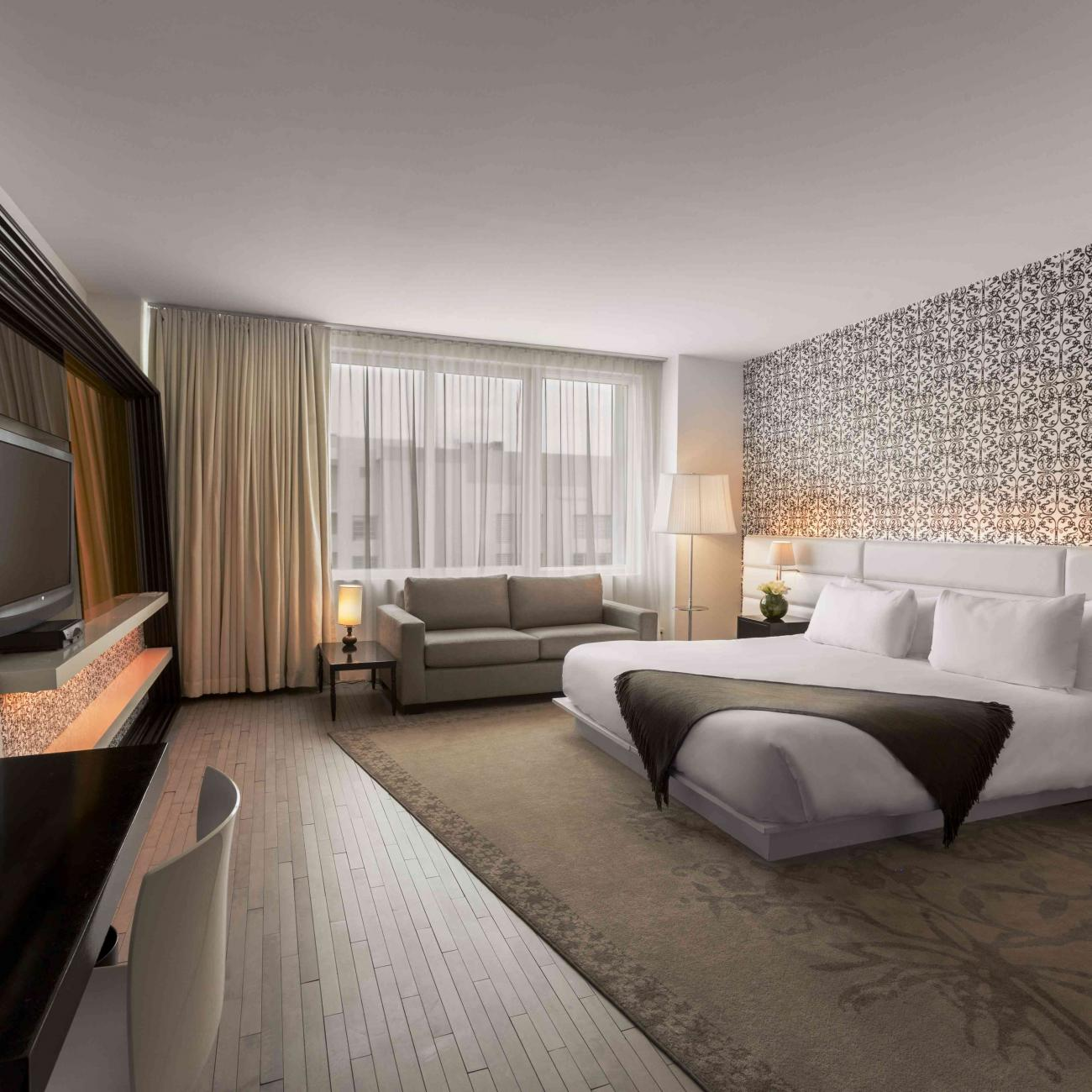 one bedroom suite with balcony  mondrian south beach  sbe